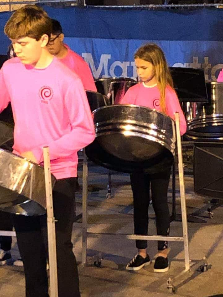 Picture of the steel band